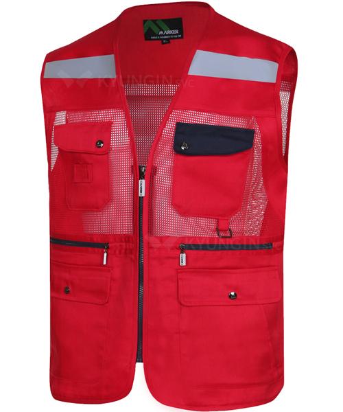 Áo gile KYUNGIN MK-131 lưới lưng, ngực (7 màu)