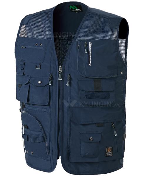 Áo gile KYUNGIN MK-461 nhiều túi hộp, khóa (4 màu)