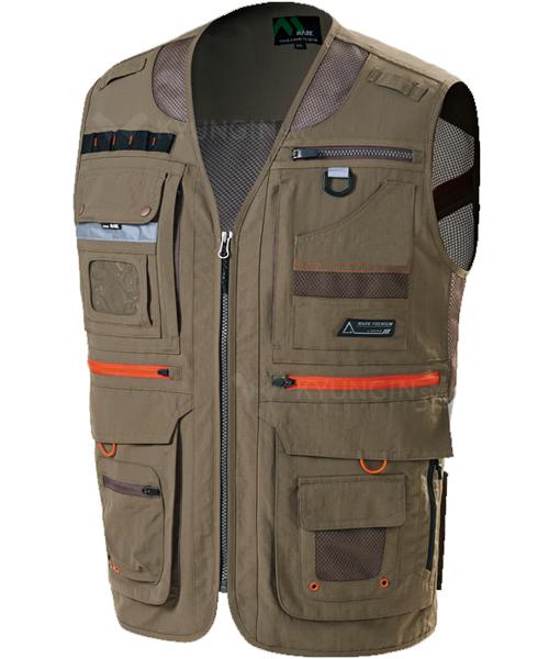 Áo gile KYUNGIN MK-481 khóa sườn phản quang (3 màu)